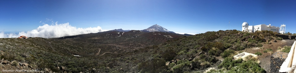 Panoramic view from the Teide Observatory - March 2014
